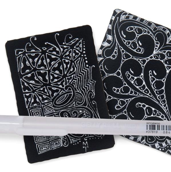 «Sakura» Гелевая ручка 0.8 мм белый XPGB 50