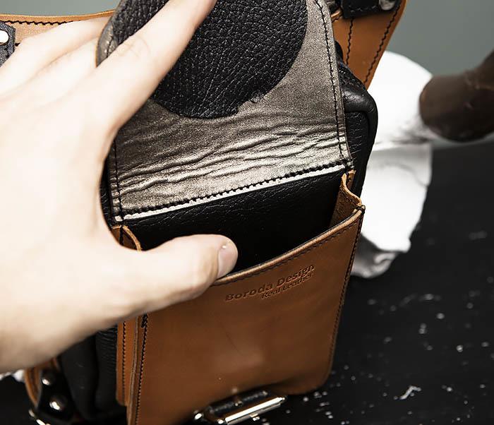 BAG369-6 Крутая мужская сумка на бедро из натуральной кожи, ручная работа фото 06