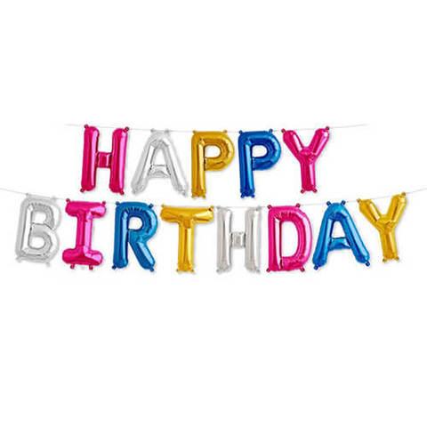 Разноцветные буквы Happy Birthday