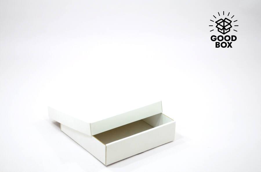 Крафт коробка с мелованной крышкой купить в Алматы