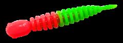 Силиконовые приманки Trout Bait Chub 65 (65 мм, цвет: Красно-зелёный, запах: чеснок, банка 12 шт.)