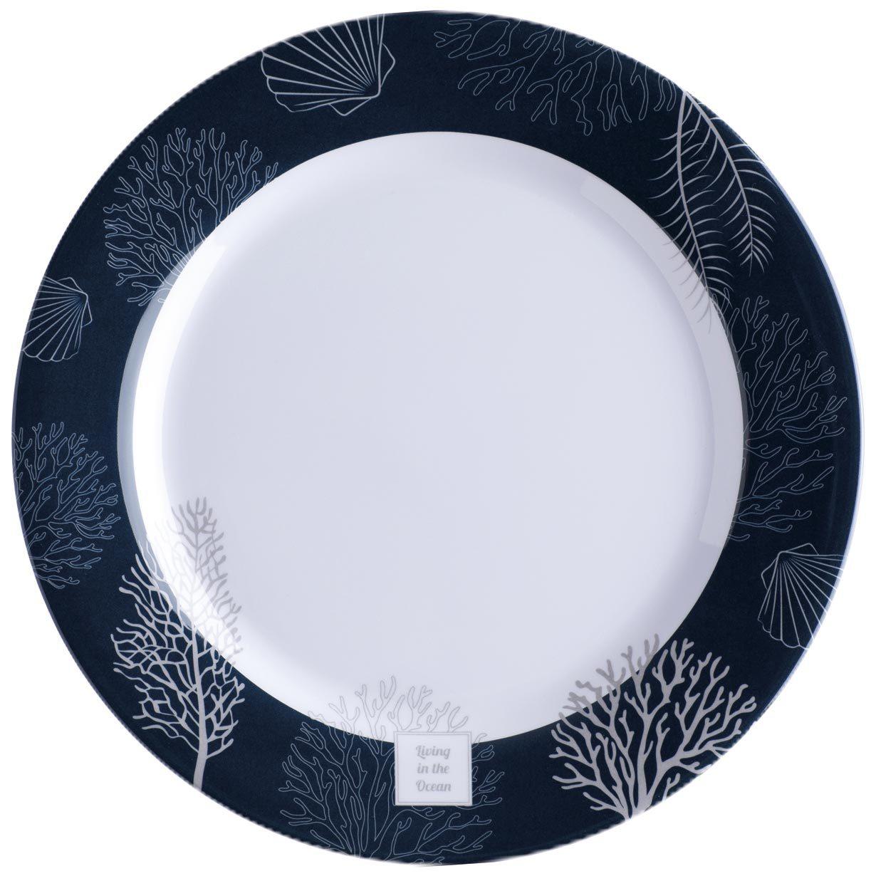 Melamine Dinner Plate, Living 6 UN