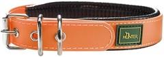 Ошейник для собак, Hunter Convenience Comfort, 45 (32-40 см)/2,4 см мягкая горловина водоотталкивающий материал, оранж неон