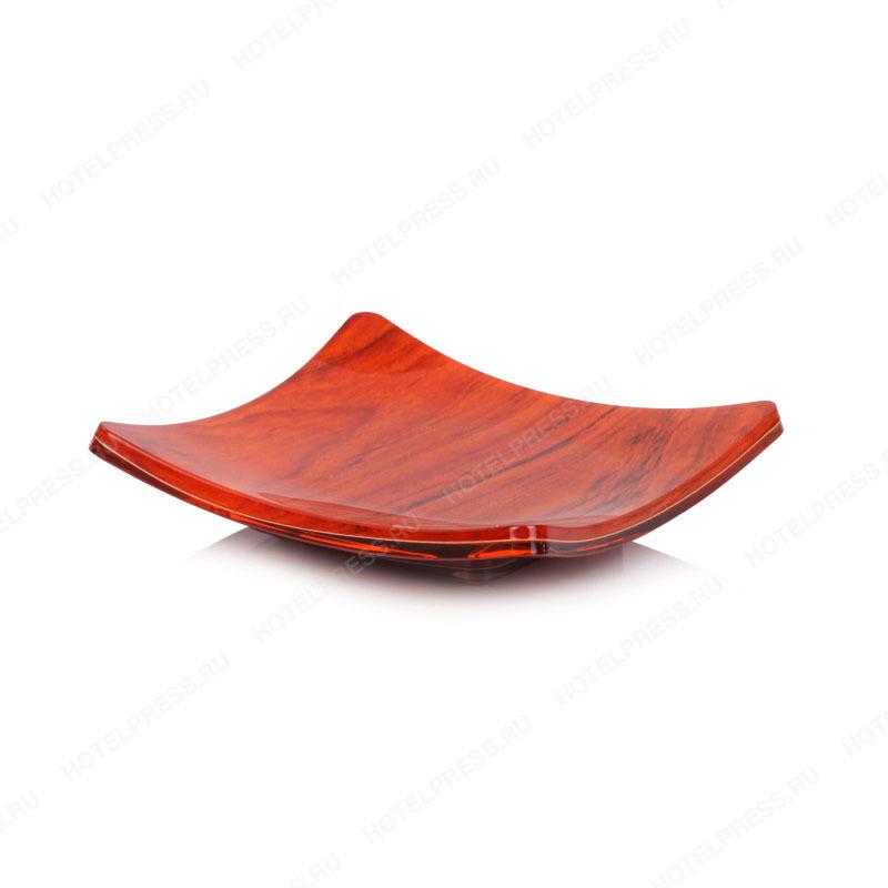 Набор в номер из акрила с имитацией красного дерева