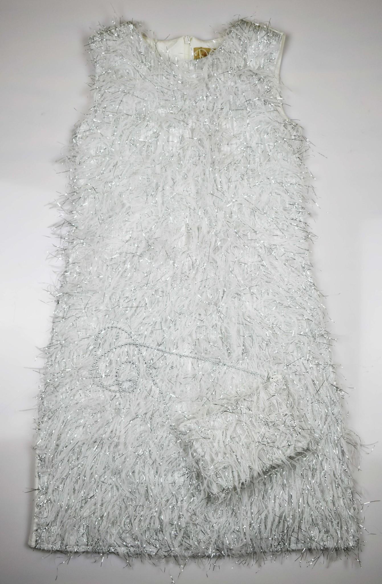 2116 платье Серебряный пух сумочка