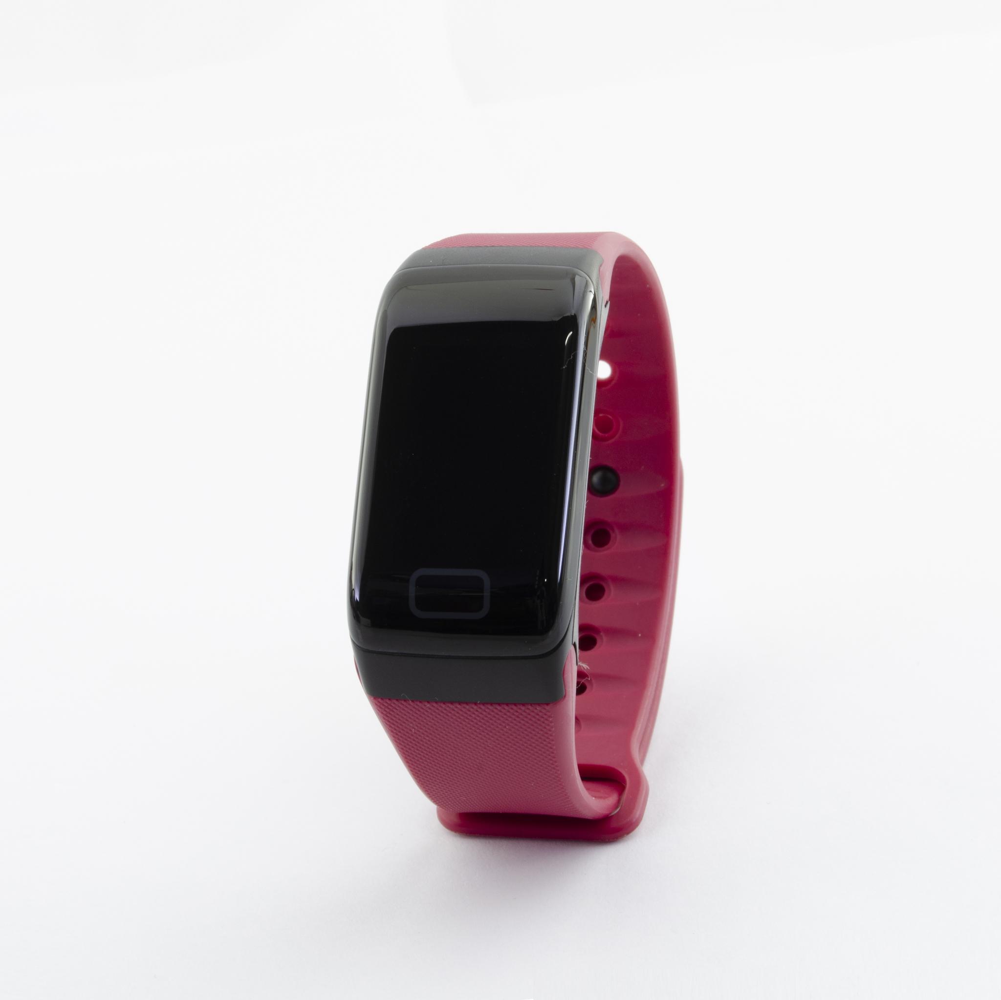 Браслет здоровья с автоматическим измерением давления, пульса и кислорода Health Band №1 (красный)