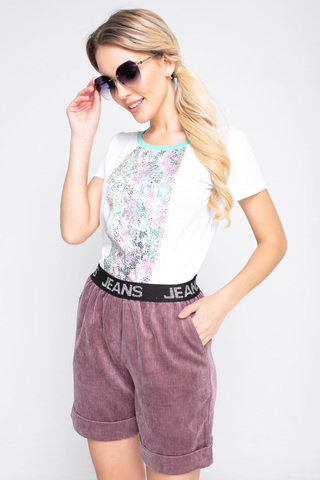Шорты вельвет (лиловые),. <p>Классные модные шорты удобного кроя на резинке!</p>