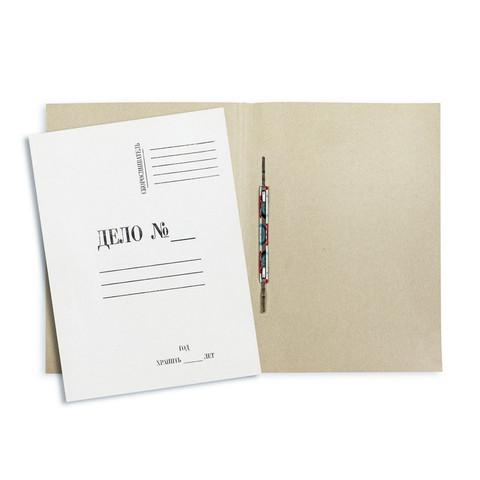 Скоросшиватель картонный Attache Дело № А4 до 200 листов белый (плотность 260 г/кв.м, 20 штук в упаковке)