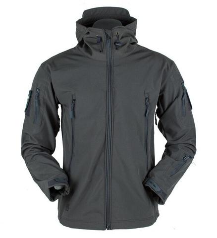 Куртка тактическая, черный Softshell