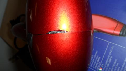 Уценка! Фен Dewal Profile Compact, 2000 Вт, ионизация, 2 насадки, красный