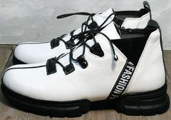 Женские ботинки на шнурках без каблука Ripka 146White