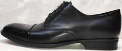 Деловые туфли мужские кожаные классические Ikoc 2249-1 Black Leather.