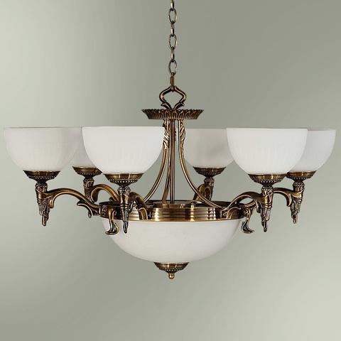 Люстра 6-ти рожковая с центральным плафоном на 2 лампы 18255/6+2 БИРМИНГЕМ