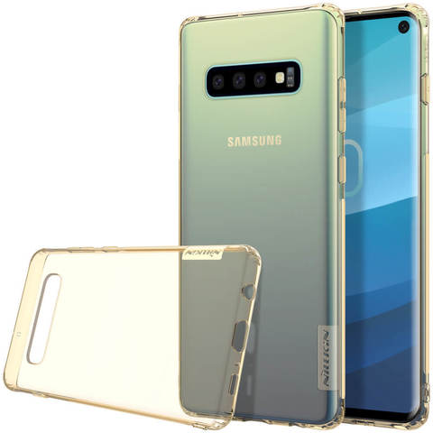Силиконовый бампер Nillkin Nature TPU Case для Samsung Galaxy S10e (золотистый)