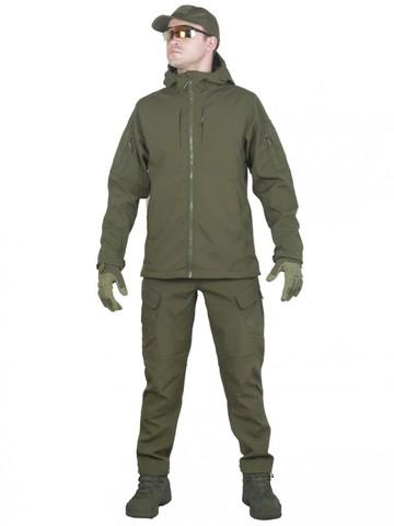 Тактический костюм мужской софтшелл GONGTEX SMARTFOX SOFTSHELL, Олива