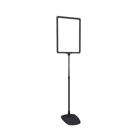 Стойка информационная напольная Base-PL раздвижная 350-550мм, формат А4, черная