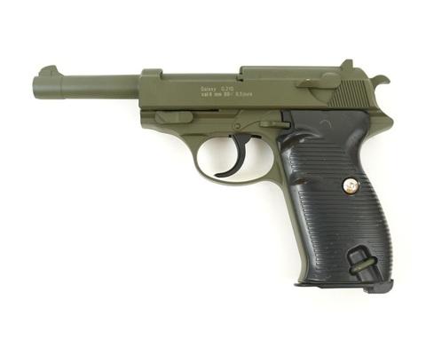Страйкбольный пистолет Galaxy G.21G  Walther P-38 металлический, пружинный