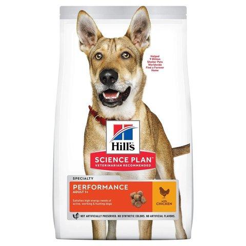 Сухой корм Hill's Science Plan Performance для взрослых собак для поддержания жизненной энергии и иммунитета, с курицей