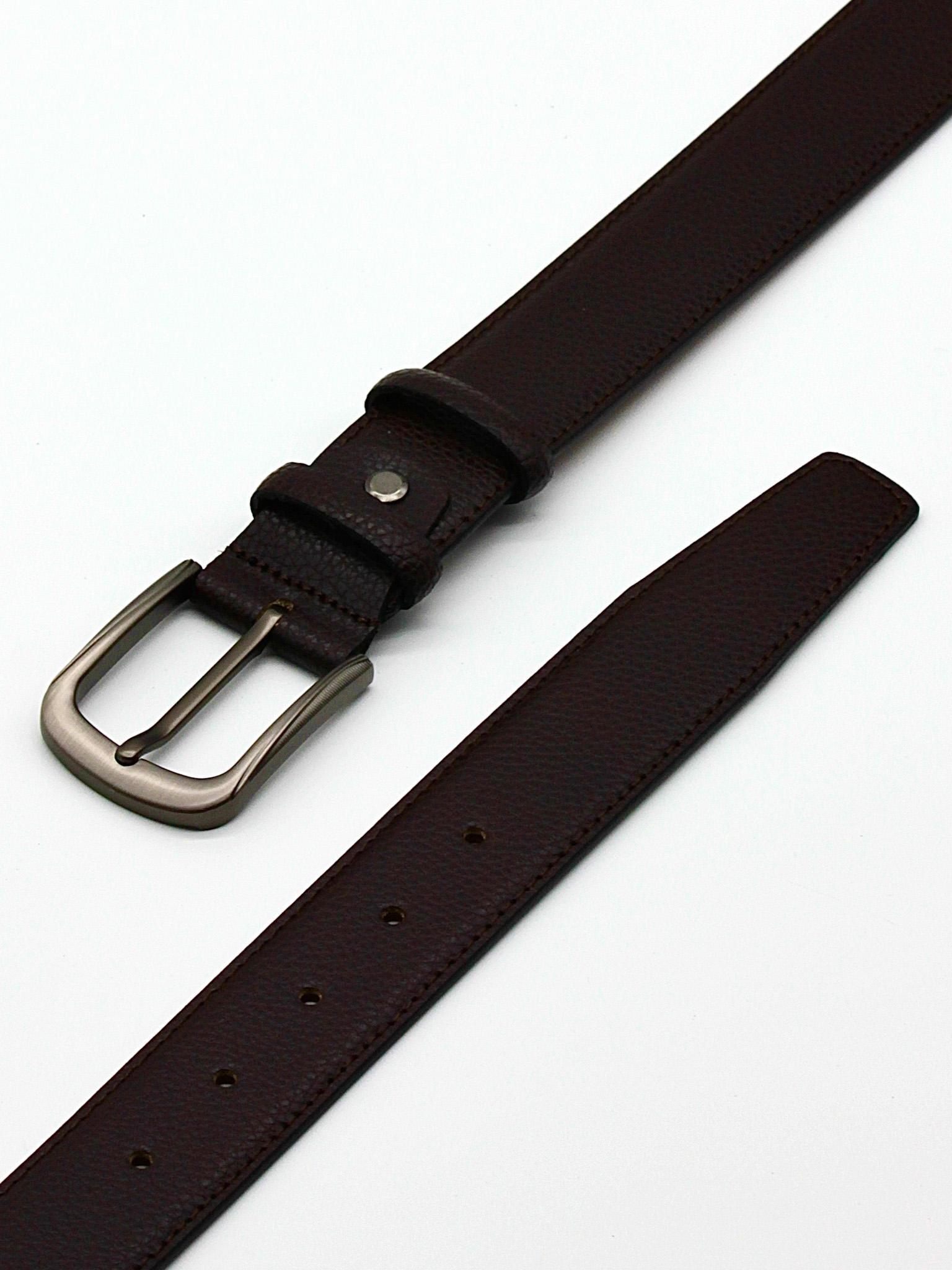 Ремень брючный коричневый 35 мм Doublecity RC35-25-19