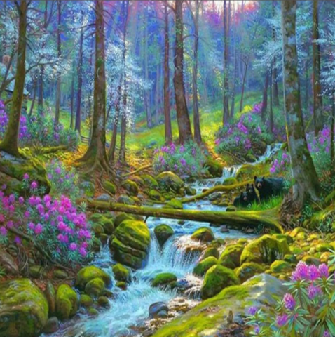 Алмазная Мозаика 40x50 Сказочный лес (арт. GA72850)