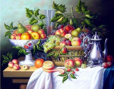 Алмазная Мозаика 5D 40x50 Натюрморт с разными фруктами