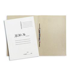 Скоросшиватель картонный Дело № А4 до 200 листов белый (плотность 360 г/кв.м, 20 штук в упаковке)