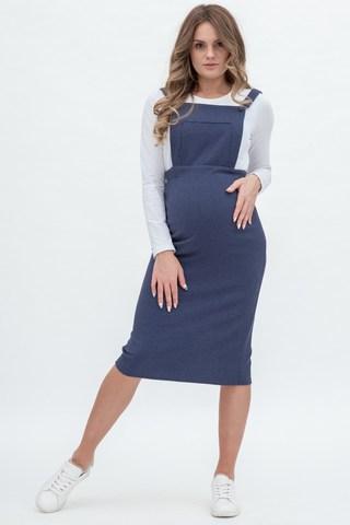 Сарафан для беременных 10336 синий