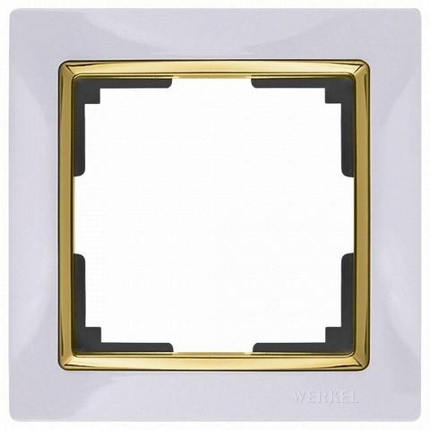 Werkel Рамка W0011933 (WL03-Frame-01) белый/золото