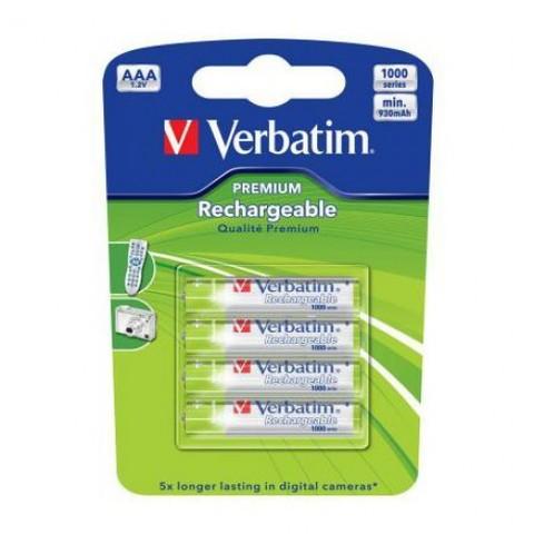 Аккумуляторы Verbatim R03 (1000mAh) 1x4 шт.