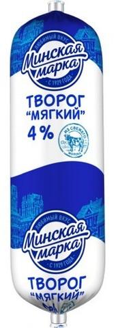 Творог мягкий 4% 400г. Минская марка