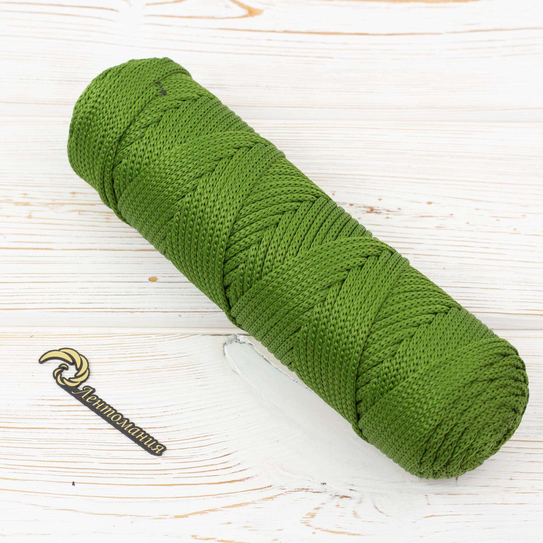 Полиэфирный объемный шнур Шнур полиэфирный 4мм Оливковый IMG_0005.jpg
