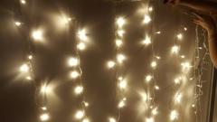Занавес светодиодный домашний 2,5*2м 180LED теплый белый