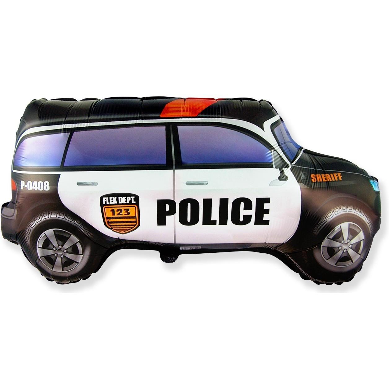 Фольгированный шар, Полицейская машина 74см.