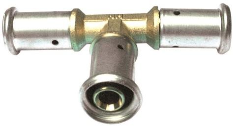 Henco тройник пресс 20х16х20 мм переходной для металлопластиковых труб (10P-201620)