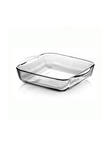 Форма для запекания жаропрочная стеклянная квадратная 3,2 литра Borcam 59024 лоток с ручками квадратный 28х28х6 см рубашка