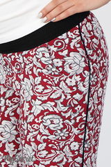 Свободные брюки для беременных из принтованного штапеля