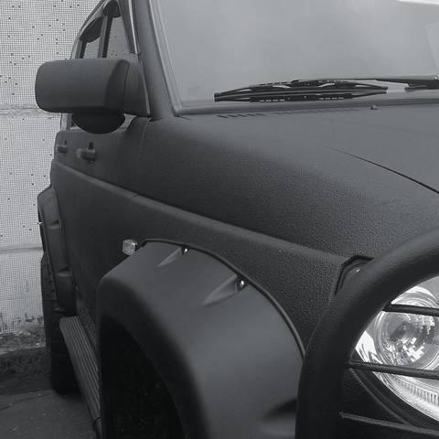 Покраска Раптором УАЗ Патриот