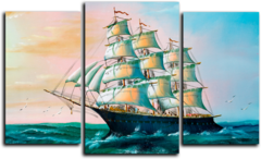 """Модульная картина """"Морской корабль"""""""