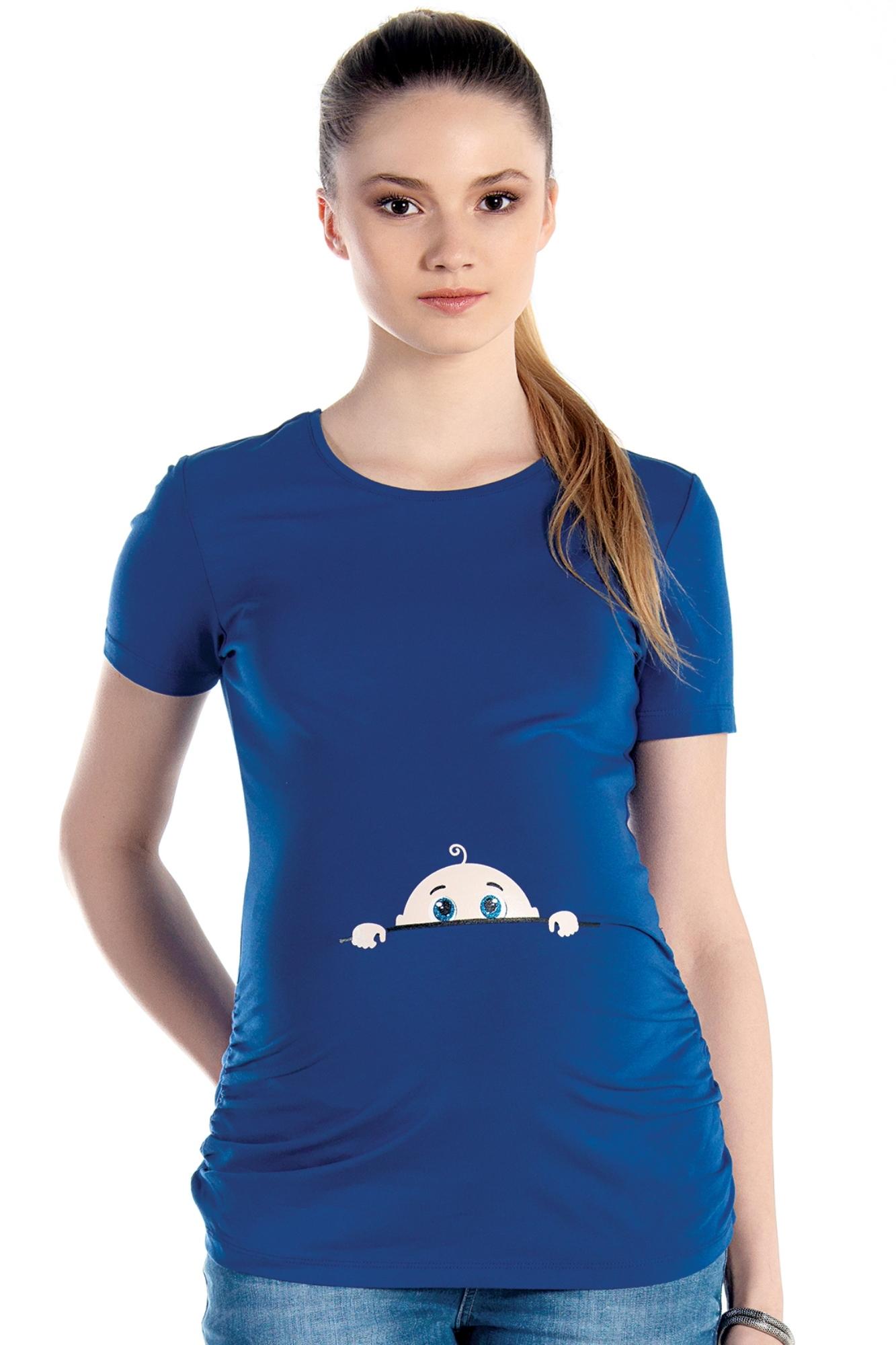 Футболка для беременных 01444 синий