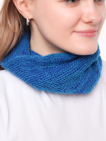 Мини шарф манишка сине-голубая