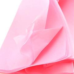Бумага упаковочная тишью, Розовый, 50 см х 66 см,10 листов, 1 уп.
