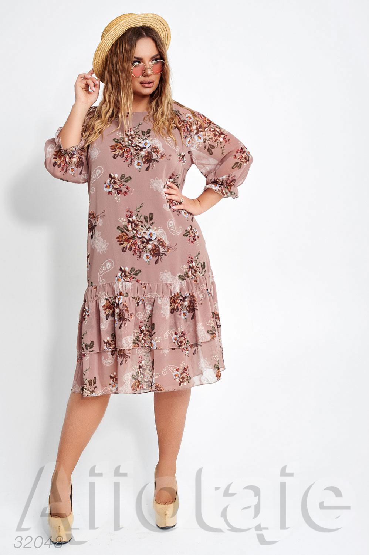 Шифоновое платье миди с цветочками