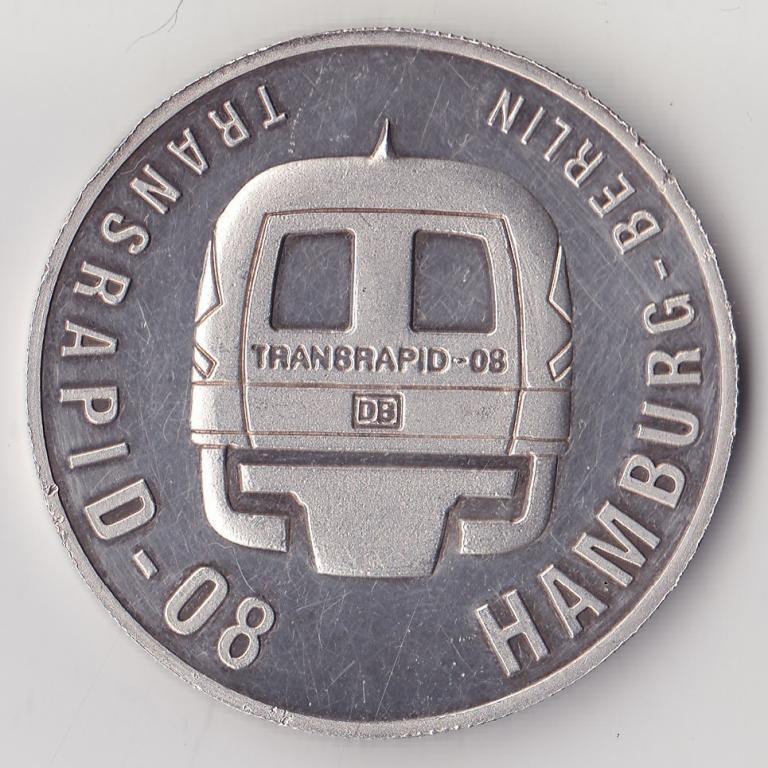 Transrapid-08 Hamburg-Berlin 1999 10 долларов Либерия Гамбург-Берлин