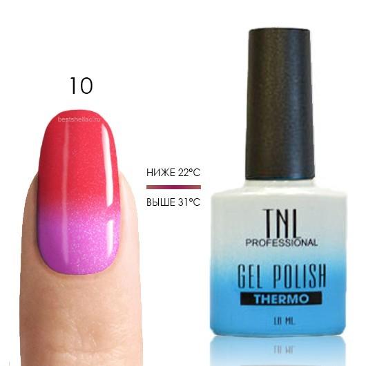 Термо TNL, Термо гель-лак № 10 - малиновый/пурпурный (с перламутром), 10 мл 10.jpg