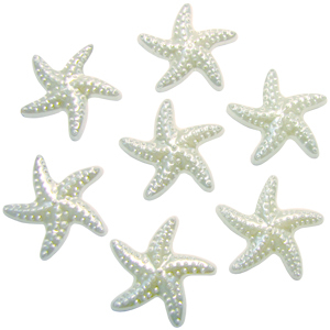 Декоративные бусины Морские звезды перламутр 2,3х1,8см 20шт
