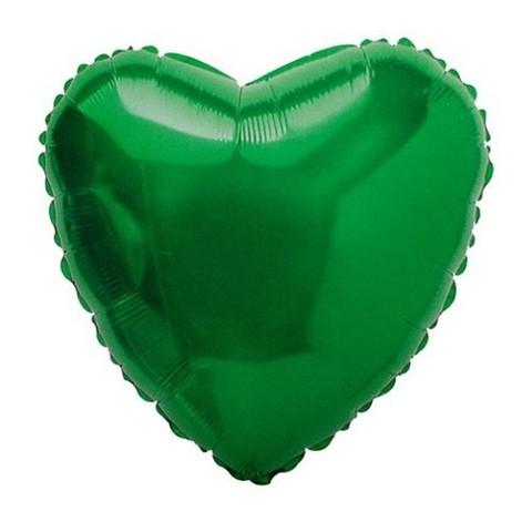 Сердце Металлик Зеленый (46 см)