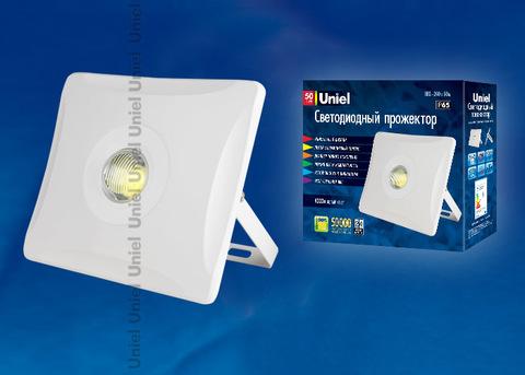 ULF-F11-50W/NW IP65 180-240В WHITE Прожектор светодиодный. Корпус белый. Белый свет. Упаковка картон. TM Uniel.