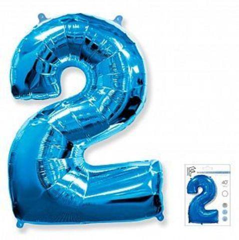 Цифра два- синий