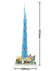 Конструктор Wisehawk & LNO Небоскрёб Бурдж-Халифа 1244 деталей NO. 2458 Burj Khalifa Tower Gift Series