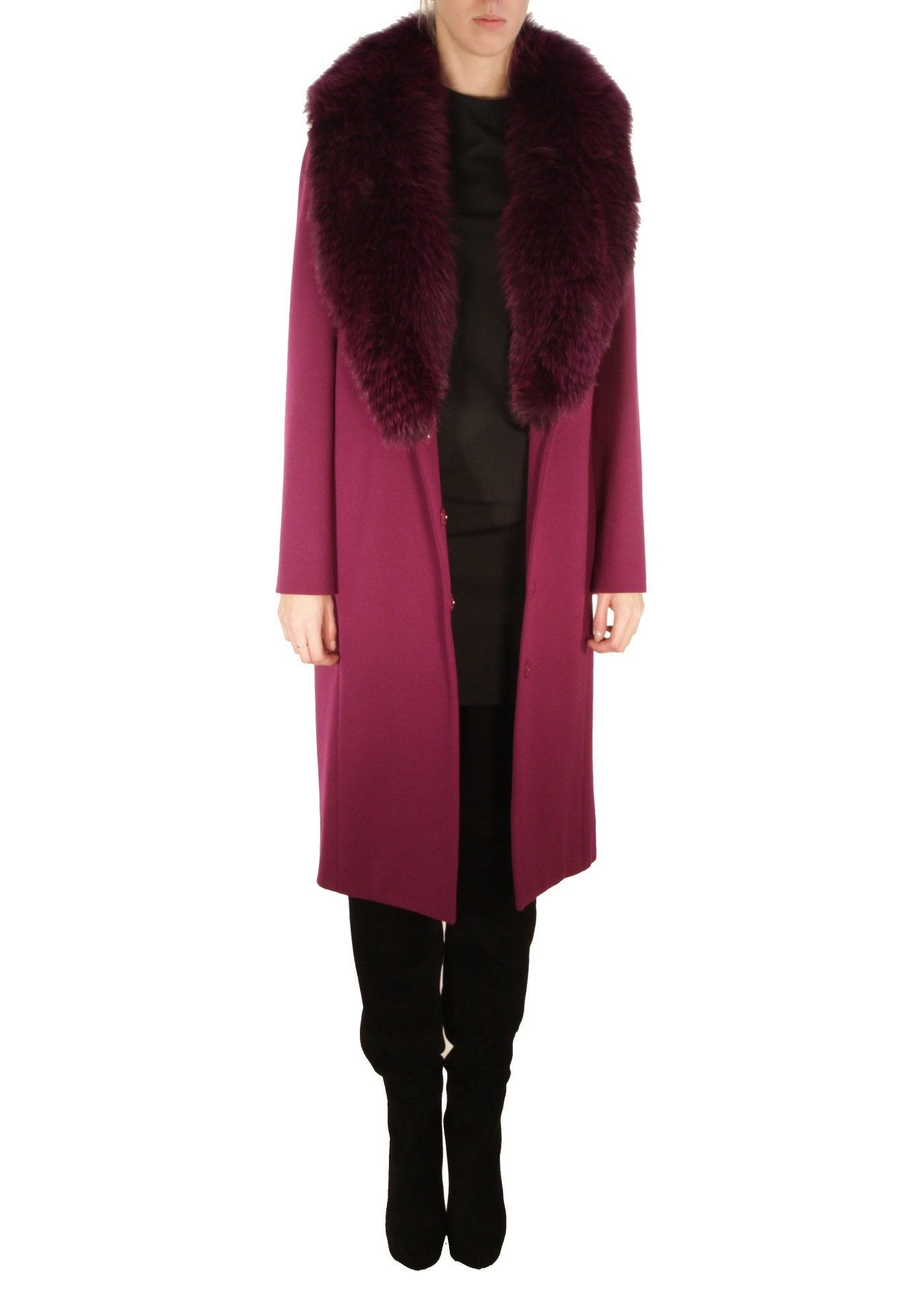 Пальто из шерсти ROBERTO CAVALLI
